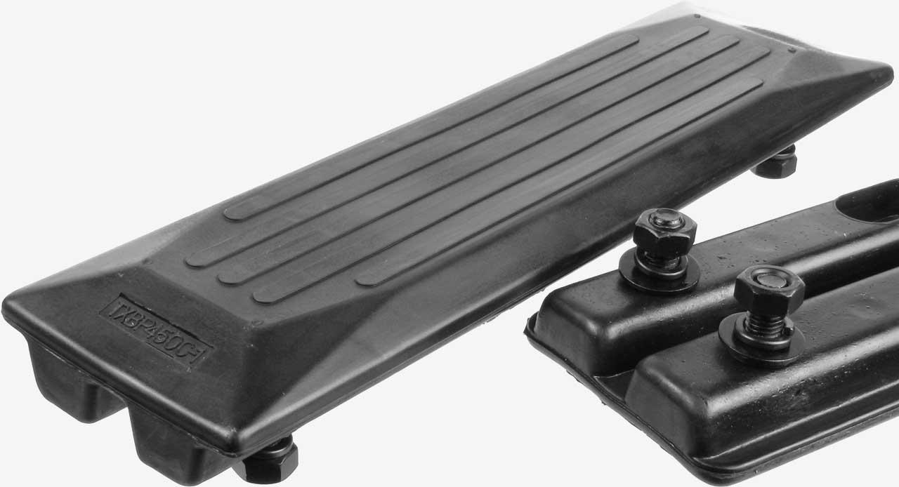 Bold On Pads - Gummibodenplatten zum Aufschrauben auf die Stahlbodenplatte
