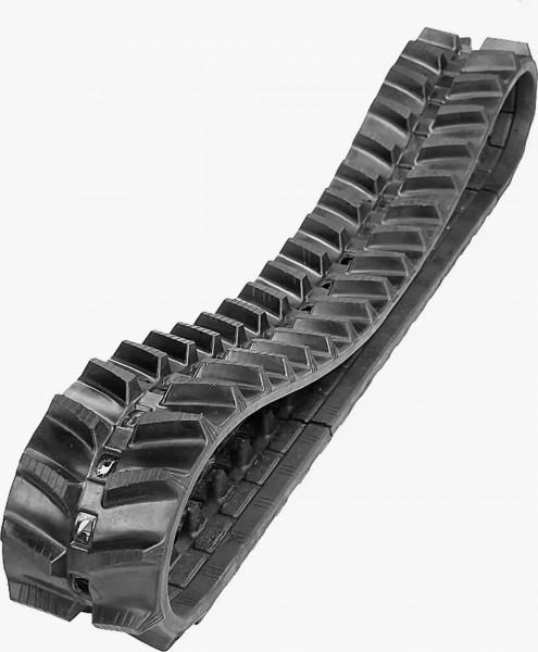 Abbildung einer TAGEX KTL Laderkette-Gummikette in der Größe 200x48x72 mit Hochstollenporfil für Raupendumper und Mähraupen